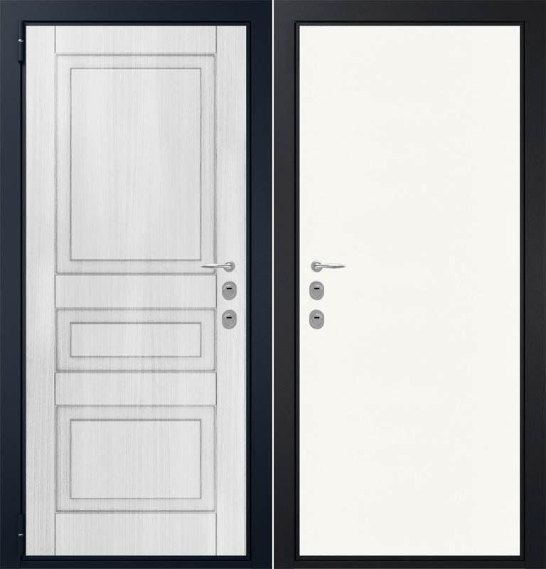 белые стальные двери входные