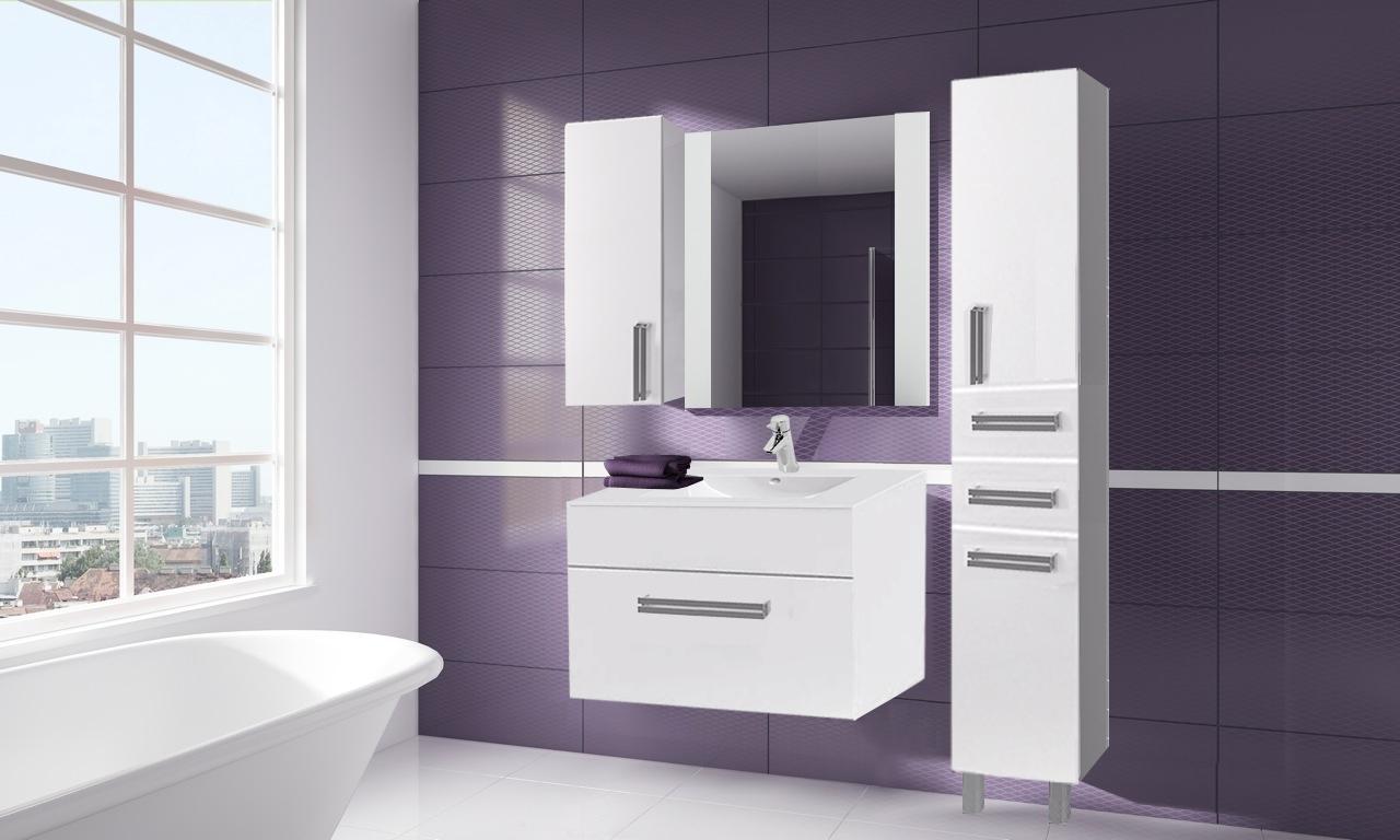 Мебель белого цвета в ванную